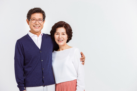 Portrait of Asian Senior Couple Banco de Imagens