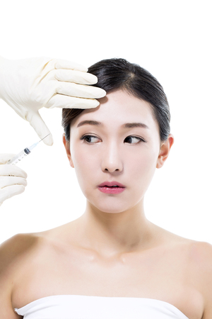Plastic Surgery Cosmetic Botox Injection in the Asian Female Face
