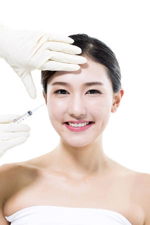 Plastic Surgery Cosmetic  Injection in the Asian Female Face