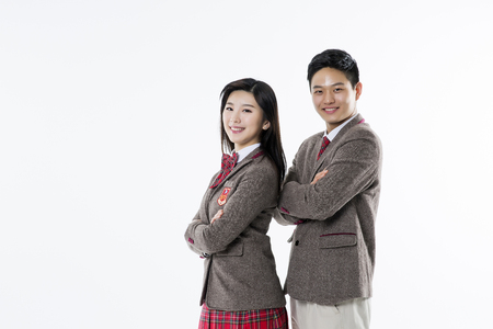 Asian Highschool Students Stock Photo