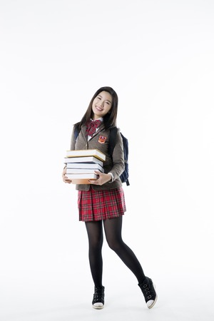 front facing: Asian Highschool Students Stock Photo