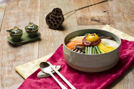 Korean Traditional Food - Bibimbap (Mixed Rice,Asian Cuisine) Stock Photo