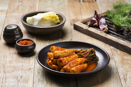 Korean Traditional Food - Kimchi (FermentedPickled Radish,Asian Cuisine) Banco de Imagens
