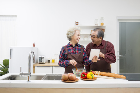 Asian Elderly, Senior Lifestyle Archivio Fotografico