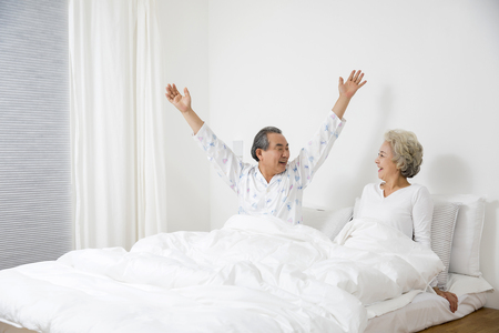Asian Elderly, Senior Lifestyle Stock Photo