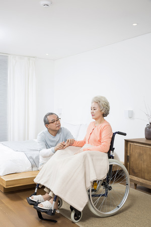 health concern: Asian Elderly, Senior Lifestyle Stock Photo