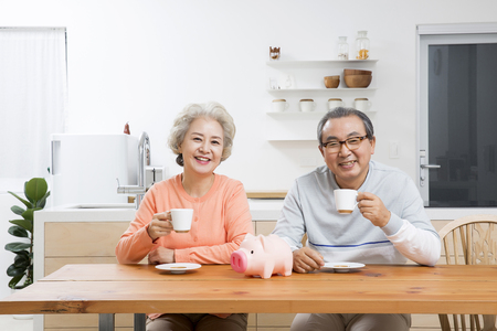 Asian Elderly, Senior Lifestyle Stock Photo