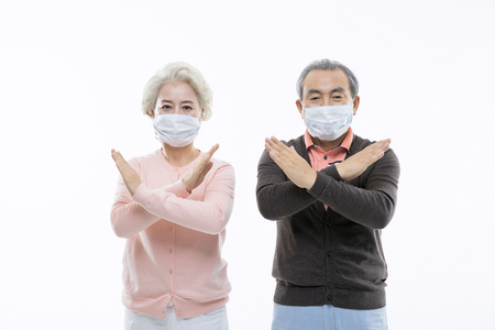 cold: Asian Elderly, Senior Lifestyle Stock Photo