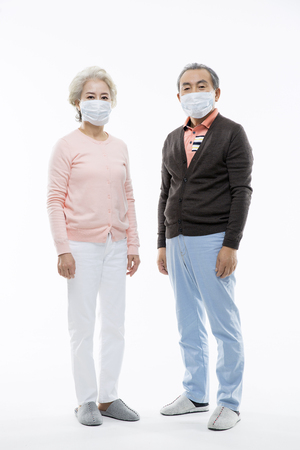 Asian Elderly, Senior Lifestyle Banco de Imagens