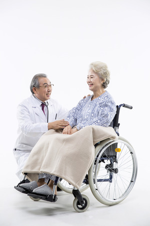operation gown: Asian Elderly, Senior Lifestyle Stock Photo