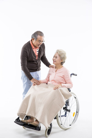 caregivers: Asian Elderly, Senior Lifestyle Stock Photo