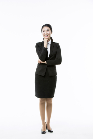 Motivated Young Asian Job Seekers Stock Photo