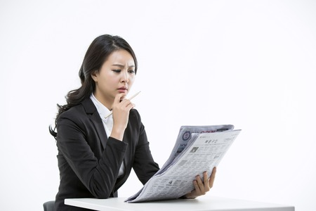 layoffs: Motivated Young Asian Job Seekers Stock Photo