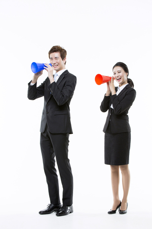 new recruits: Motivated Young Asian Job Seekers Stock Photo
