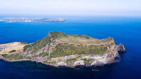 Scenic spots of Jeju seen from the sky
