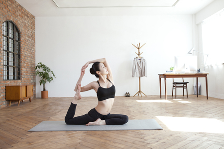 Performing yoga alone
