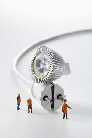 Light bulb and electrical plug isolated