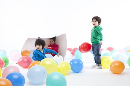 shoppingbag: Children playing together Stock Photo