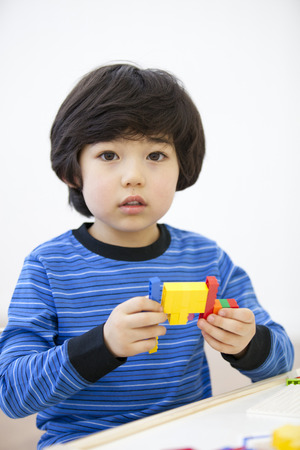 adorable child: Playtime at home Stock Photo