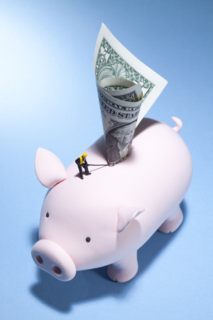A piggy banks journey for more money