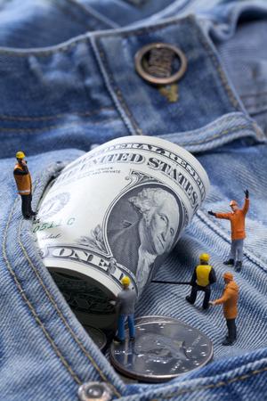 george washington: dinero de bolsillo Americana