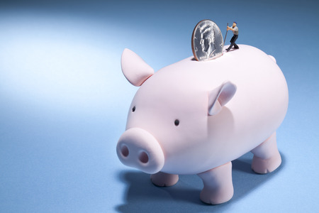 subtract: A piggy banks journey for more money