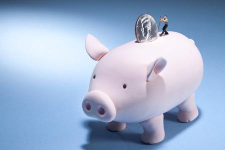 A piggy banks journey for more money