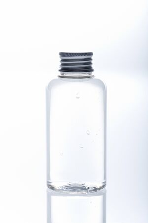 lotion bottle: Small hand lotion bottle isolated Stock Photo