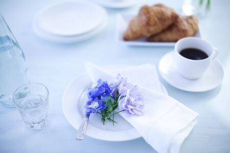 Light Breakfast At The Table