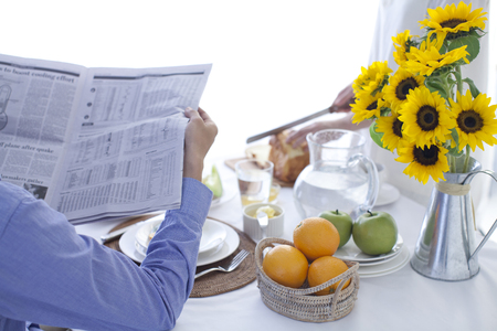 diningroom: Light Breakfast At The Table