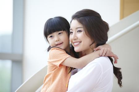 Moeder en dochter Stockfoto