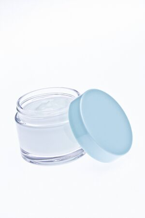 gels: Small lotion jar isolated
