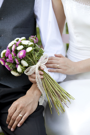 arm bouquet: Bride And Groom