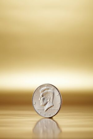 trust god: U.S. Half Dollar Coin In A Studio Setting Stock Photo