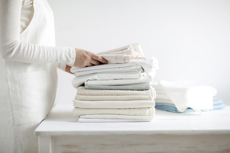 Dried And Folded Towels And Sheets