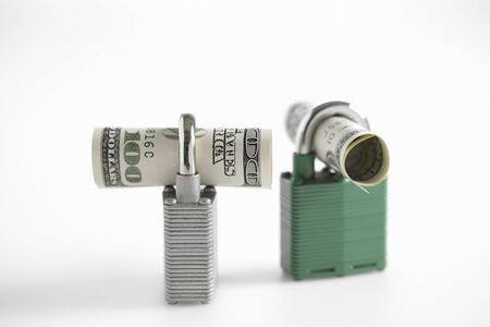 dollarbill: Money Kept Safely Secured Stock Photo