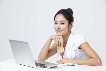 Studio Shot Of An Attractive Young Business Woman Stock Photo