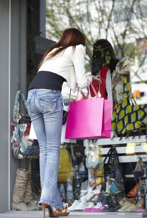 A Young woman,young Out Shopping