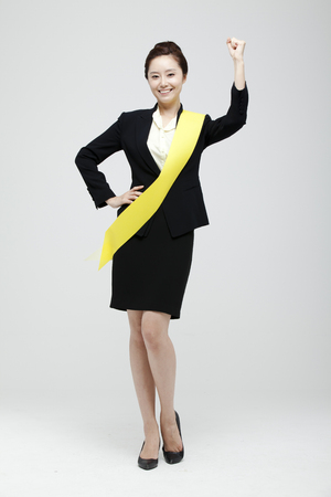 Female Candidate In The Election Studio Shot