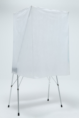 voting: Studio Shot Of A Voting Booth Stock Photo