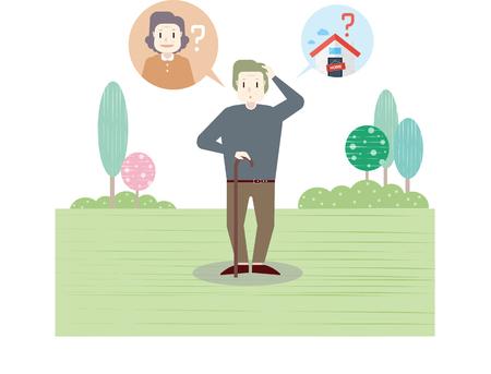 Alzheimersziekte Illustratie