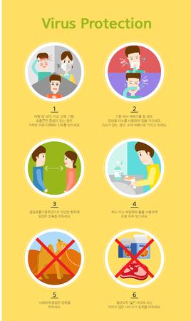 virus protection: Virus Protection Illustration