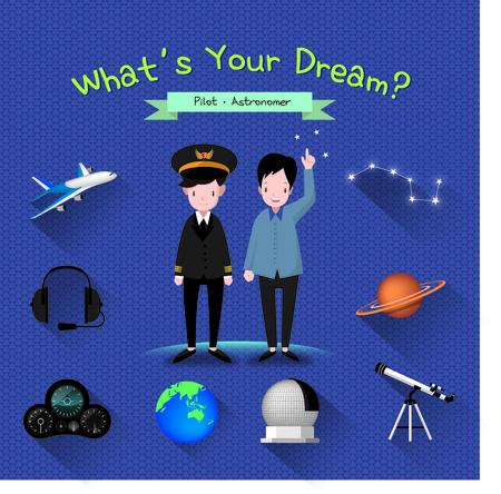 astronomer: Pilot And Astronomer Illustration