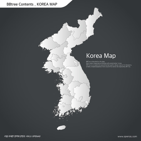 vector mapa- coreana