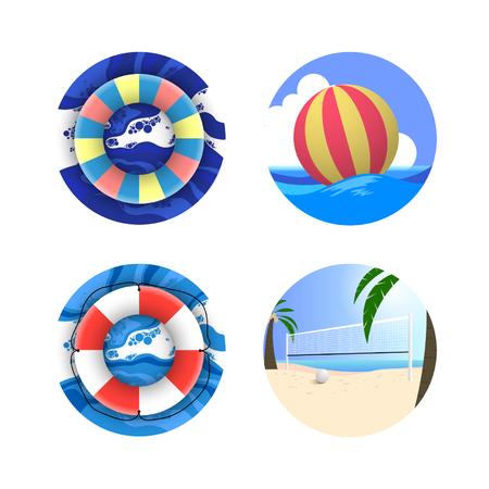 coast guard: Summer Holiday Icon Set
