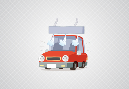 Washing a car - vector Illustration