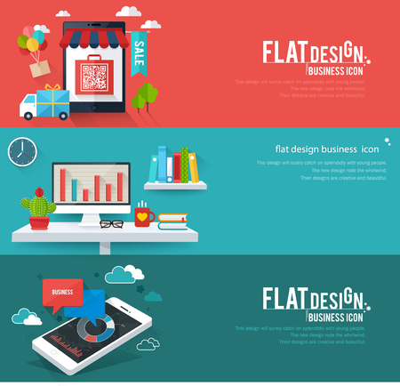 Flat Design Business Icon
