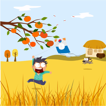 Chuseok Fairy Tales Illustration