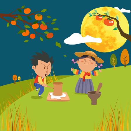 hanbok: Chuseok Fairy Tales Illustration