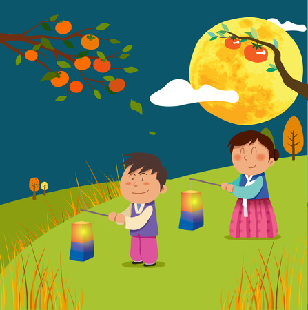 Chuseok Fairy Tales Illustration